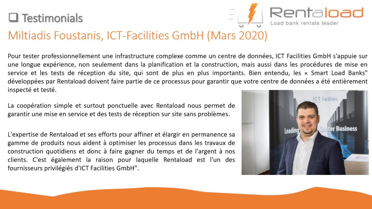 Témoignage client ICT Facilities GmbH