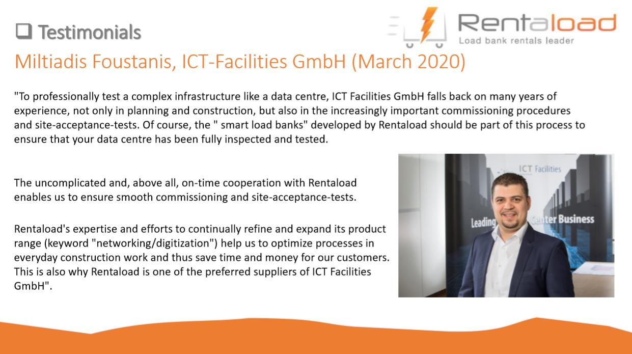 ICT facilities testimonial
