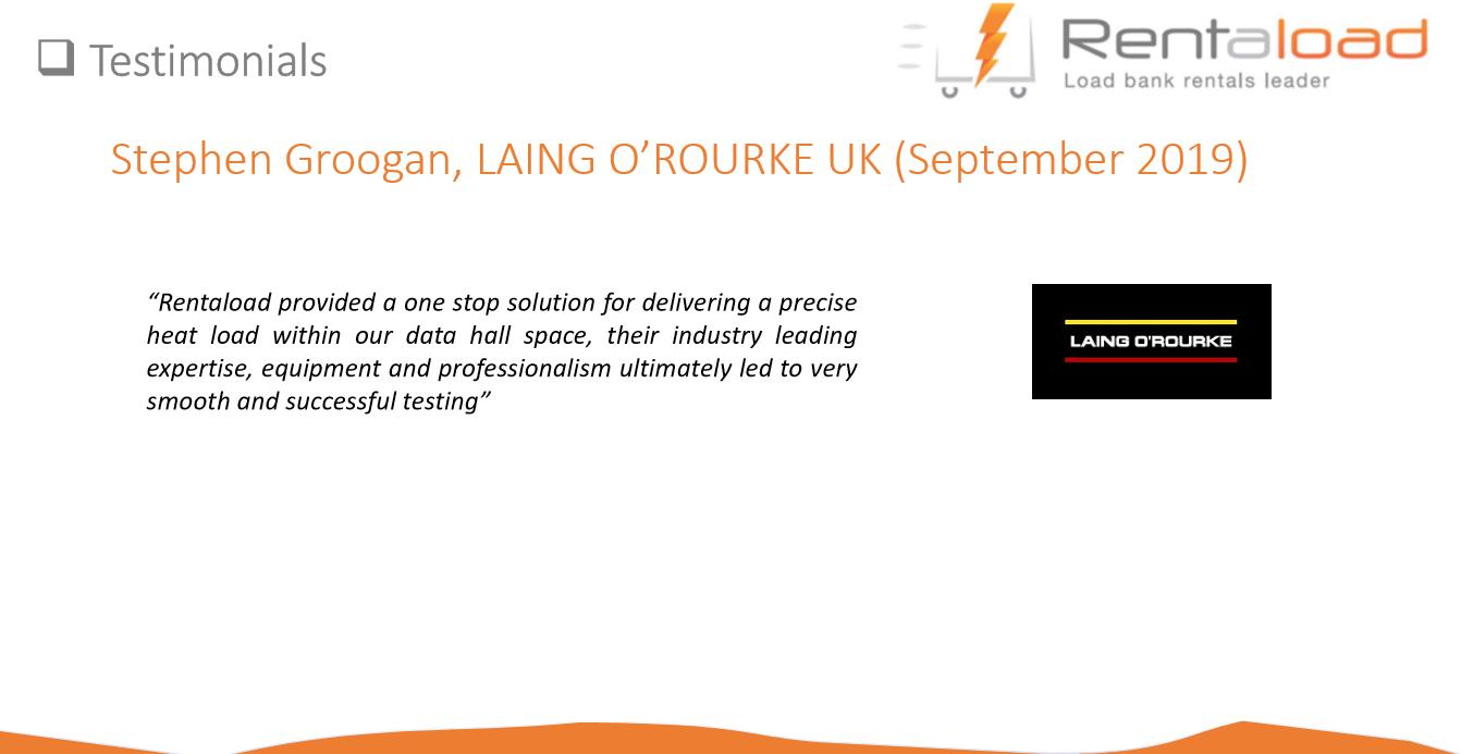 Testimonial LAING O'ROURKE