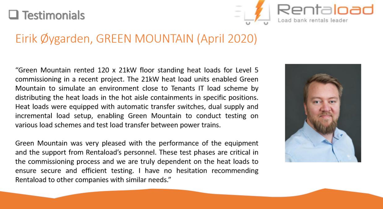 Green Mountain testimonial