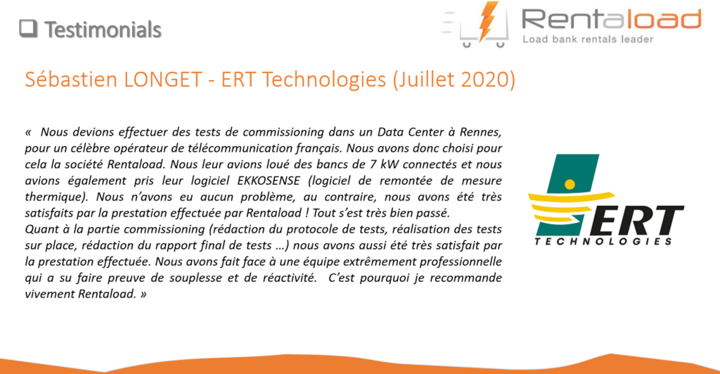 Témoignage client Rentaload : ERT TECHNOLOGIES