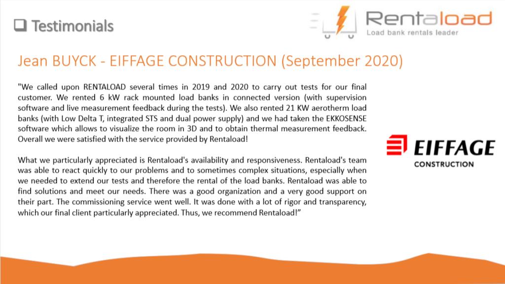 Eiffage construction testimonial