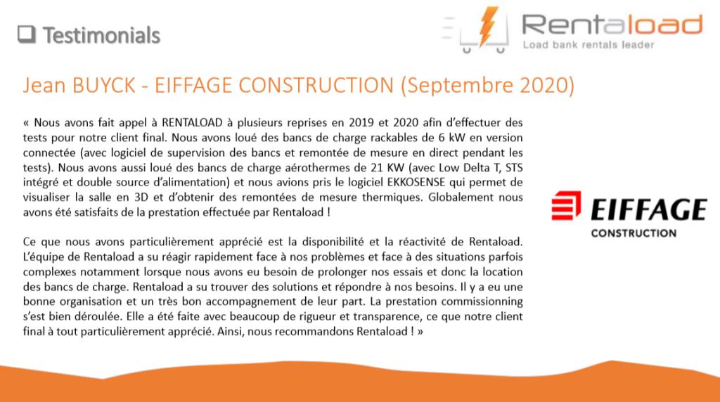 Témoignage client Eiffage Construction